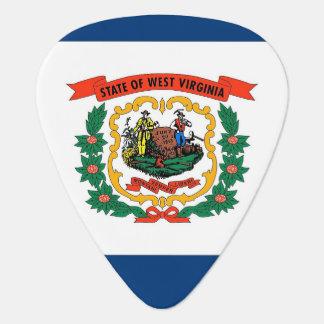 Patriotisk gitarrplocka med flagga av West Plektrum
