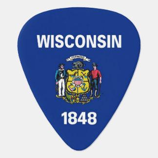 Patriotisk gitarrplocka med flagga av Wisconsin Plektrum