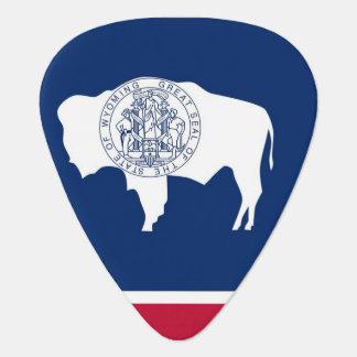 Patriotisk gitarrplocka med flagga av Wyoming Plektrum