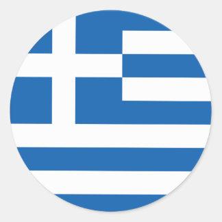 Patriotisk grekisk klistermärke för runda