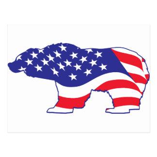 Patriotisk Grizzly för mammaGrizzly Vykort