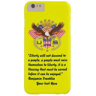 Patriotisk gult för fredskogplommon barely there iPhone 6 plus fodral