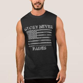 Patriotisk härlighet bleknar aldrig ärmlös t-shirt