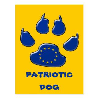 Patriotisk hund för europé vykort