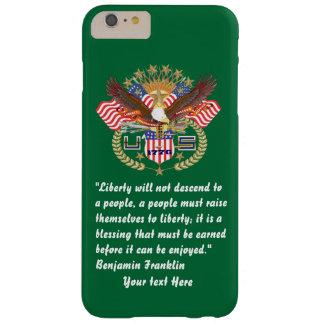 Patriotisk iphone 6/6S för fredskoggrönt Barely There iPhone 6 Plus Skal