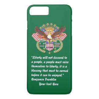 Patriotisk iPhone 7 för fredskoggrönt
