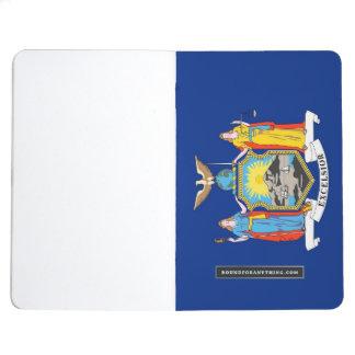 Patriotisk journal med flagga av New York