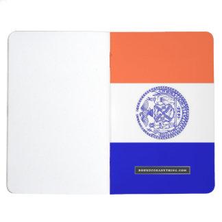 Patriotisk journal med flagga av New York City