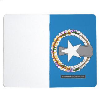 Patriotisk journal med flagga av nordliga Mariana