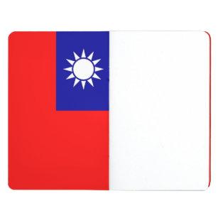 Patriotisk journal med flagga av Taiwan
