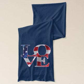 Patriotisk kärlek Amerika Sjal