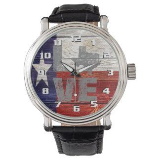 Patriotisk kärlek Texas för mycket coolt lantlig Armbandsur