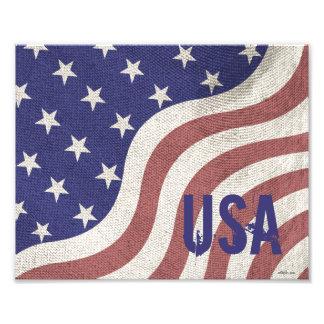 Patriotisk lantlig riden ut monogram för USA Konstfoto