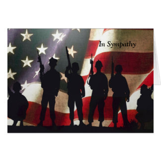 Patriotisk militär soldatsympatianpassningsbar hälsningskort