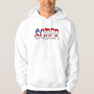 Patriotisk nykter Hoodie