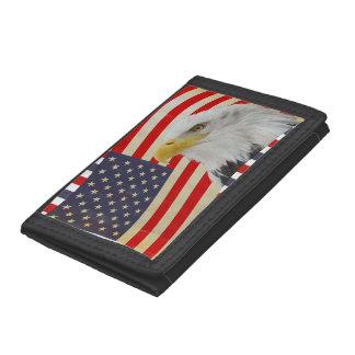 Patriotisk örn på amerikanska flagganplånboken
