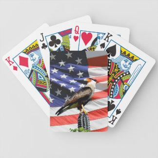 Patriotisk örn på USA flaggan Spelkort