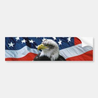 Patriotisk örnamerikanska flagganbildekal bildekal