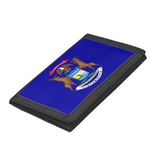 Patriotisk plånbok med flagga av Michigan