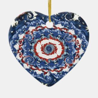 Patriotisk Plasticity Julgransprydnad Keramik