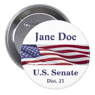 Patriotisk politisk kampanj pins