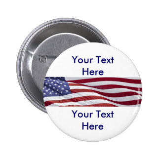 Patriotisk politisk kampanj standard knapp rund 5.7 cm
