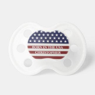 Patriotisk röd för amerikanska flaggan, vit- & napp