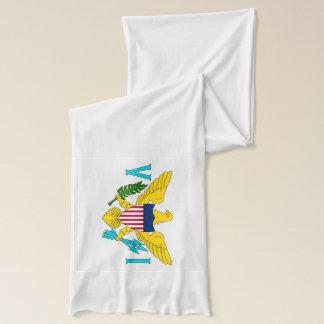 Patriotisk Scarf med flagga av Virgin Islands Sjal
