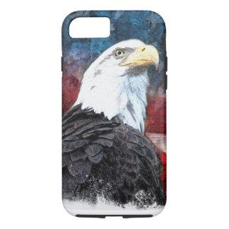 Patriotisk snäcka för iPhone 7 med örnen och Ameri