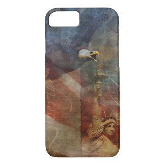 Patriotisk snäcka för iPhone 7 med örnkonst