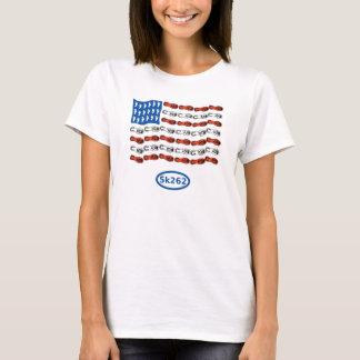 Patriotisk springer (US-flagga med fot och skor), Tee Shirt