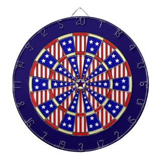 Patriotisk stars och stripesamerikanska flaggan piltavla