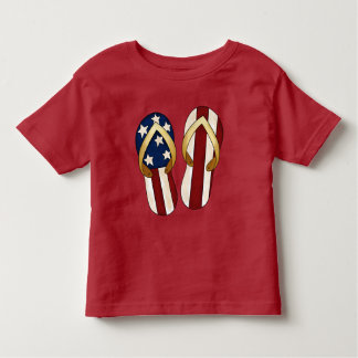 Patriotisk t-skjorta för strandflinflip tee shirt