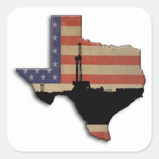 Patriotisk Texas olje- borranderigg Fyrkantigt Klistermärke