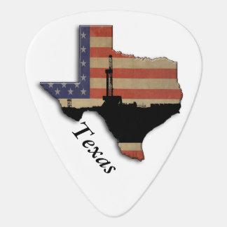 Patriotisk Texas olje- borranderigg Plektrum