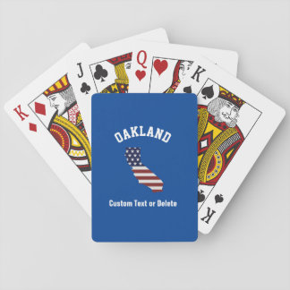 Patriotisk USA flagga | för Kalifornien karta | Spelkort