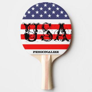 Patriotisk USA pingpong paddlar med amerikanska Pingisracket