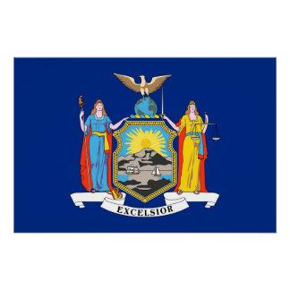 Patriotisk väggaffisch med flagga av New York