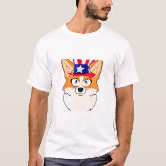 Patriotisk walesisk Corgi T Shirts