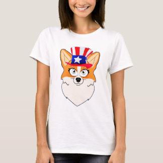 Patriotisk walesisk Corgi Tee Shirt
