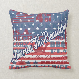 Patriotiska Amerika den härliga independence day Prydnadskudde