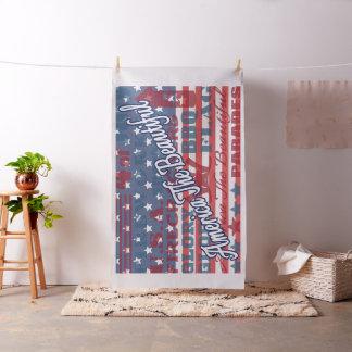 Patriotiska Amerika den härliga independence day Tyg