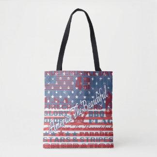 Patriotiska Amerika den härliga independence day Tygkasse