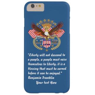 Patriotiska blått för frihetfredöken barely there iPhone 6 plus skal