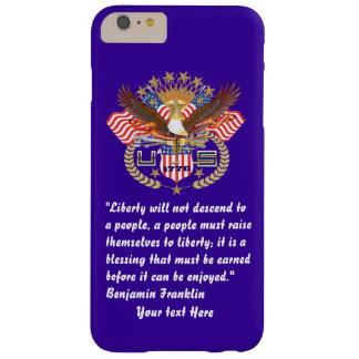 Patriotiska blått för frihetfredstorm barely there iPhone 6 plus skal