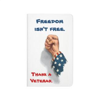 Patriotiska frihet och veteran budna anteckningsbok
