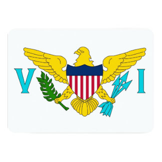 Patriotiska inbjudningar med den Virgin Islands