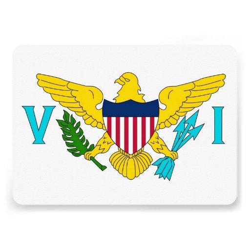 Patriotiska inbjudningar med den Virgin Islands fl