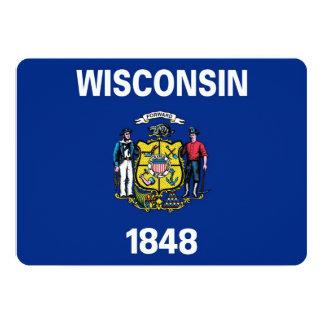 Patriotiska inbjudningar med den Wisconsin flagga