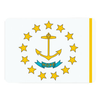 Patriotiska inbjudningar med Rhode - öflagga